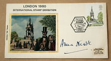 ALBERT MEMORIAL LONDON 1980 STAMP EXHIBITION COVER SIGNED ACTRESS ANNA NEAGLE