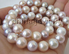 "P2815-AAA + 17"" 10-11mm natural multicolor round freshwater pearl necklace - 14k"