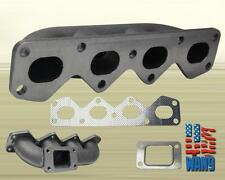 Mazda Miata NA B6-ZE 1.6L Cast Iron T3/T4 Exhaust Turbo Manifold Keep AC/PW