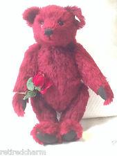 """❤️Steiff DEW DROP ROSE Teddy Bear �� 665844 16"""" LE 3500 for USA MOHAIR Crystal❤️"""