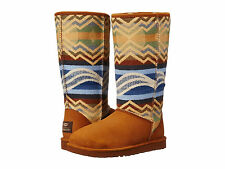 NWOB UGG Classic Tall Pendleton Boots Women's Size 9 Chestnut $275