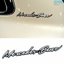 Detailkorea (Grid) Car Name Cursive Lettering Emblem for Mercedes-Benz & AMG