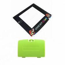 New KIWI GREEN Game Boy Color Battery Cover + Mario & Luigi Screen GBC