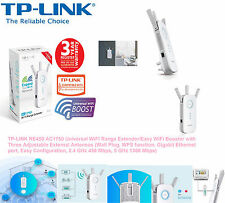 TP-LINK RE450 AC1750 Universal WiFi Range Extender Booster with 3 Antennas UK