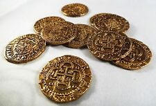 Superb Job Lot 70 Spanish Gold Doubloons - Coins/Pirates/Treasure/Spanish/Gift