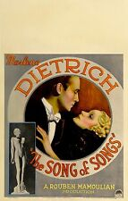 The song of songs Marlene Dietrich movie poster print