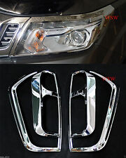 CHROME COVER FRONT HEADLIGHT REAR TAIL LIGHT FOR FRONTIER NAVARA NP300 2014 15