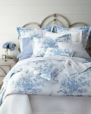 $215 Ralph Lauren Archival Collection Dauphine Blue Floral Twin Comforter