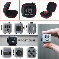 Fidget Cube Toy ~ Anxiety Attention Stress Relief For Adults + Free Bag case