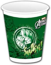 Avengers Assemble Teens The Incredible Hulk Plastic Party Cups x 8