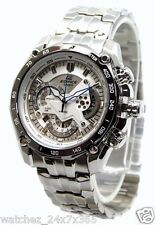 CASIO EDIFICE CHRONOGRAPH EF-550D-7A WHITE DIAL STAINLESS  STEEL CASE BRACELET