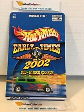 #1 Midnight Otto GREEN * Early Times Rod Run * Hot Wheels w/Real Riders * M14