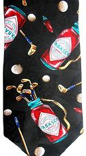 """Tabasco Men's Sports Novelty Polyester Tie 56.5"""" X 4"""" Golf Bags, Balls & Clubs"""