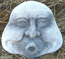 Gostatue MOLD plaster concrete plastic mold funny blowing garden face  #3
