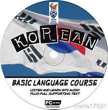 LEARN TO SPEAK KOREAN PCCD LANGUAGE COURSE EASY BEGINNER PROGRAM MP3 +TEXT NEW
