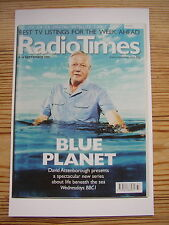 Postcard Radio Times Cover 2001 David Attenborough Blue Planet Life on Earth BBC