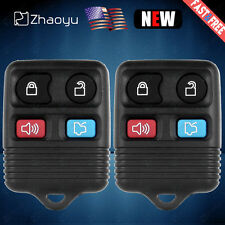 2X Replacement 4 Button Keyless Entry Remote Control Key Fob Clicker for Ford