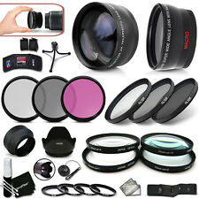 PRO 58mm Lenses + Filters ACCESSORIES KIT f/ CANON 7D 6D 5D 7D Mark iii