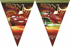 DISNEY Pixar Cars Neon FLAG Pennant Banner/Bunting Party Decorazione