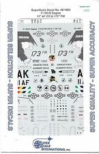 Super Scale F-15C /E Eagle , 11th AF CO and 173rd FW, Decals 1/48 1063