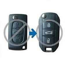 Folding Remote Key Shell for PEUGEOT 307 308 407 607 Case Fob Refit 3 Button