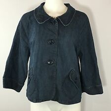 Style Co Jean Denim Jacket Coat Blue Button Down Lightweight Womens XL 1X