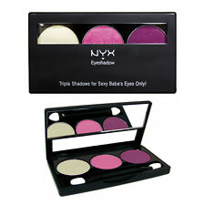 NYX Triple Shadows Palette For Sexy Babe Eyes Makeup Shimmer Red Bronze #TS25