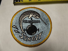 """VTG.USS NARWHAL SSN 671 PATCH V-BOAT NEW/UNUSED 4""""D:FREE SHIP"""