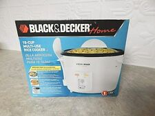 New Black & Decker White Rice Cooker Plus 16-Cup Model RC446 New in Box