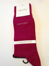 Calvin Klein Men's 7 - 12 Socks Fine Egyptian Cotton Bright Orchid NWT 1 Pair