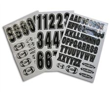 "racing sticker decal set 5.25"" number stickers 2.25"" letters  motocross bmx"