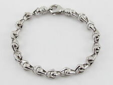 "14K WHITE GOLD FANCY MEN'S BRACELET 8 3/4"" / 20 grams"