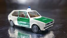 * Brekina 25506 VW Golf Police Vehicle White/Green 1:87 HO Scale