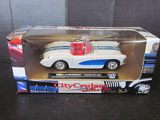 New-Ray Toys City Cruiser 1957 Chevy Chevrolet Corvette Convertible Diecast 1/43
