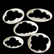 5x Cloud Cake Cutter Mold Fondant Pastry Cookie Sheep Mould Decor DIY Tool ESUS