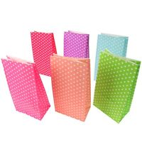 Small Polka-Dot Paper Party Favour Bags - Wedding, Sweets, Craft, Card Gift Shop