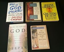 Lot 5 Deepak Chopra Books 1st Ed How To Know Why Is God Laughing Way of Wizard