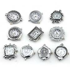 10Pcs Stylish Assorted Styles Quartz Watch Faces Findings