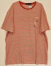 Polo Ralph Lauren Big and Tall Mens Red Striped Crewneck Pocket T-Shirt NWT 4XB
