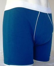 MENS BOYS FUN DESIGNER UNDERWEAR BLUE BOXER LONG NO FLY 2B1 LARGE A1