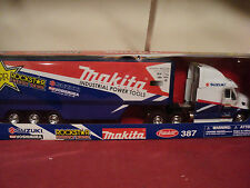 New-Ray Peterbilt model 387 1/32 scale Semi Tractor trailer NIB Suzuki Racing