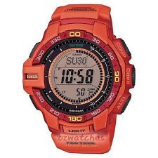 CASIO PROTREK MENS WATCH SOLAR PRG-270-4A PRG-270-4ADR TRIPLE SENSOR V3 ORANGE