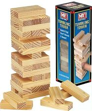 Wooden Tumbling Stacking Tower Jenga Kids Family Party Board Game