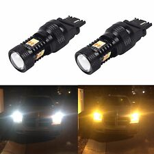 JDM ASTAR 2x 3157 T25 LED Switchback 3030 SMD Car White Yellow Turn Signal Light