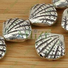 HIZE SB283 Thai Karen Hill Tribe Silver 4 SEA CLAM SHELL Beads 14mm