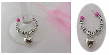 Best Friend Wine Glass Charm Ring, Best Friend Present ~ Comes with Gift Bag