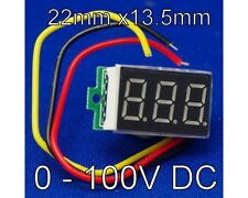 0-100V Voltmetro LED Digital Display Mini DC VOLTMETRO DIGITALE DA 0 A 100 V UK