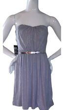 NWT! EXPRESS BELTED STRAPLESS TUBE DRESS$79.90 XS Holiday Glam!