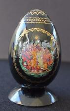 Vntg PALEKH Signed LUBIMOV Russian Fairy Tale Hand Painted RUSLAN & LUDMILA Egg