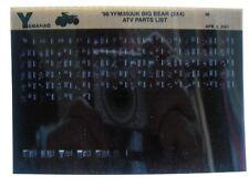 Yamaha YFM350 1998 Big Bear 2x4 YFM350UK Parts List Manual Microfiche r80